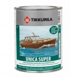 фото: Tikkurila Unica Super (Тиккурила Уника Супер) - Уретано-алкидный лак для дерева, полуматовый.